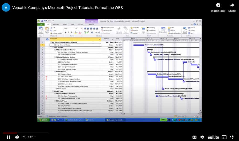 Project Tutorials YouTube Screenshot